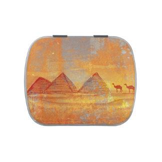 Lata del dulce de Giza de las pirámides Latas De Caramelos
