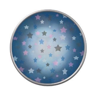 Lata del peekaboo del modelo de estrellas azules latas de dulces