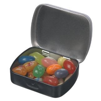 lata del vientre de la jalea jarrones de dulces