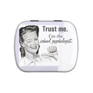 Lata divertida del caramelo de la psicología de la latas de dulces