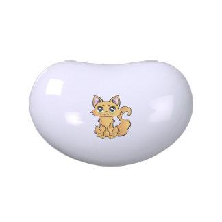 Lata dulce formada riñón. Gato v001. Frascos De Dulces