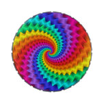 Lata espiral del caramelo del arco iris latas de caramelos