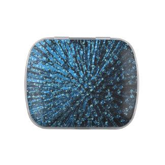Lata galáctica azul profunda de la haba de jalea jarrones de caramelos