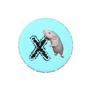 lata inicializada del caramelo de la rata de Dumbo Latas De Dulces