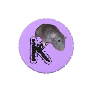 lata inicializada del caramelo de la rata del frascos de caramelos