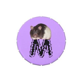 lata inicializada del caramelo de la rata latas de caramelos