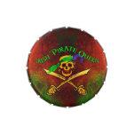 Lata irlandesa del caramelo de la reina del pirata frascos de caramelos