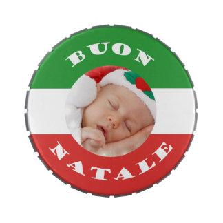 Lata Italiano-Americana del caramelo del Belly de Latas De Caramelos