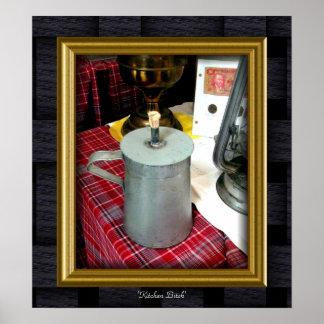 'Lata Lamp de la cocina Póster