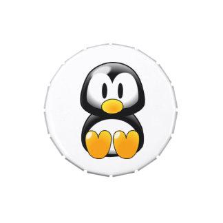 Lata linda del caramelo del pingüino del bebé latas de dulces