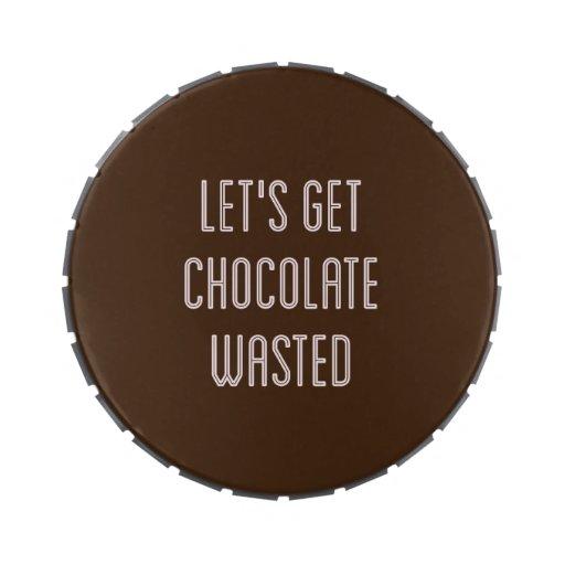 Lata perdida chocolate del caramelo jarrones de caramelos