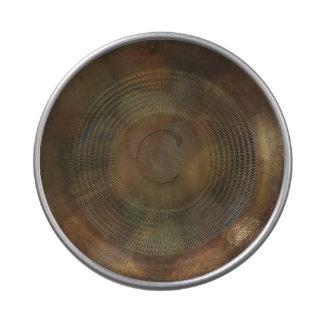 Lata plateada de metal rústica del caramelo del frascos de caramelos