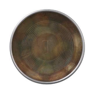 Lata plateada de metal rústica del caramelo del jarrones de dulces