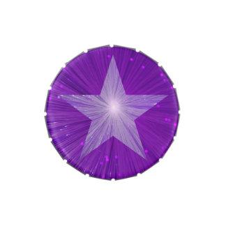 Lata púrpura del caramelo de la estrella jarrones de caramelos