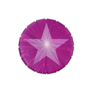 Lata rosada del caramelo de la estrella latas de dulces