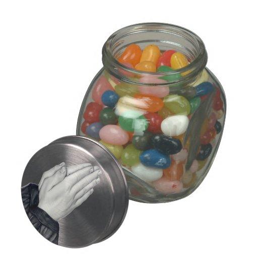 Lata/tarro de rogación del caramelo de las manos frascos de cristal jelly belly