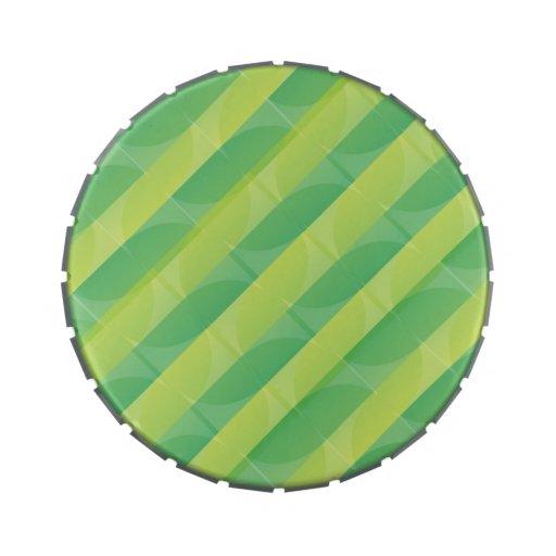 Lata verde del modelo de la hoja latas de caramelos