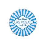 Latas azules del caramelo de la carpa de Las Vegas Jarrones De Caramelos