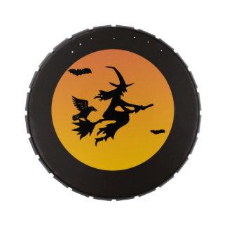 Latas Bewitching del caramelo de Halloween Jarrones De Dulces