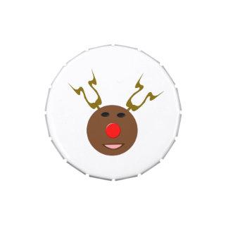 Latas cibernéticas del caramelo del reno del navid jarrones de dulces