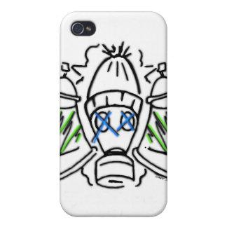 Latas de aerosol y caretas antigás iPhone 4 protector