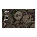 Latas de aluminio, recicladas plantilla de tarjeta de visita