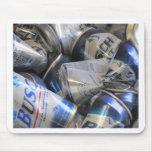Latas de cerveza tapete de ratones