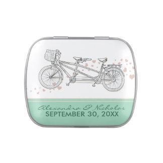 Latas de encargo del favor del boda de la biciclet jarrones de caramelos