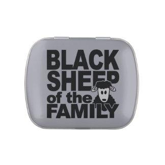 Latas de encargo y tarros de las ovejas negras jarrones de caramelos