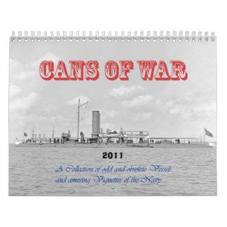 Latas de guerra calendarios