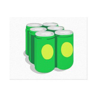 Latas de soda impresion de lienzo
