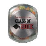 Latas del caramelo de la graduación jarras de cristal jelly bely