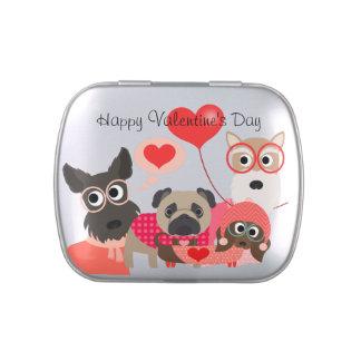 Latas del caramelo del el día de San Valentín de P Latas De Dulces