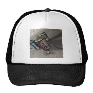 Latas frescas abstractas del aerosol de la pintada gorras de camionero