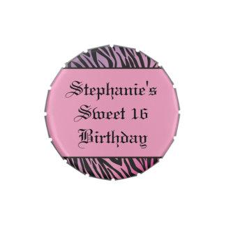 Latas rosadas del caramelo del dulce 16 de la jarrones de dulces