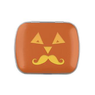 Latas y tarros de la calabaza del bigote de Hallow Latas De Dulces