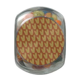 Latas y tarros del modelo del trigo jarras de cristal jelly bely