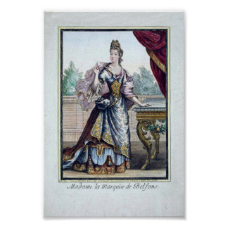 Late 17th Century Fashion Poster