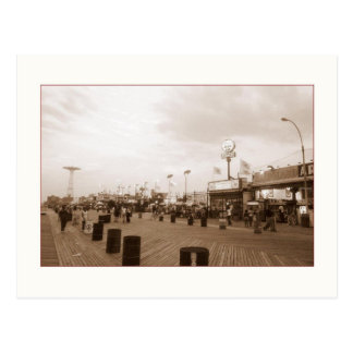 Late Afternoon Boardwalk (Coney Is., NY) postcard