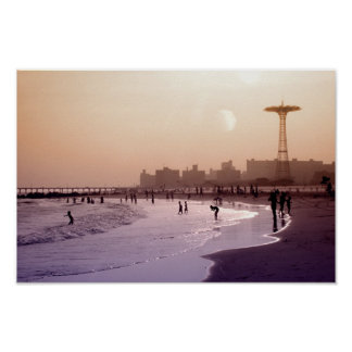 Late Afternoon Coney Island Print