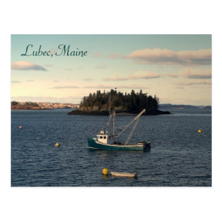 Late Afternoon in Lubec, Maine Postcard
