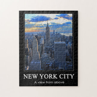Late afternoon NYC Skyline as sunset approaches 1C Jigsaw Puzzle
