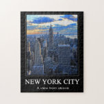 Late afternoon NYC Skyline as sunset approaches 1C Puzzle