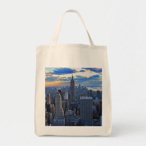 Late afternoon NYC Skyline as sunset approaches Bag