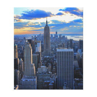 Late afternoon NYC Skyline as sunset approaches Canvas Print