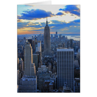 Late afternoon NYC Skyline as sunset approaches Card