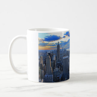 Late afternoon NYC Skyline as sunset approaches Classic White Coffee Mug