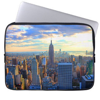Late afternoon NYC Skyline as sunset approaches Computer Sleeve