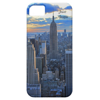 Late afternoon NYC Skyline as sunset approaches iPhone SE/5/5s Case