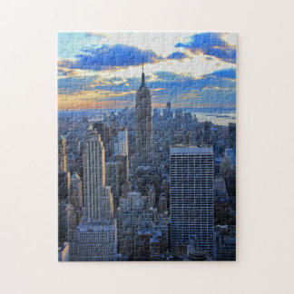 Late afternoon NYC Skyline as sunset approaches Jigsaw Puzzle